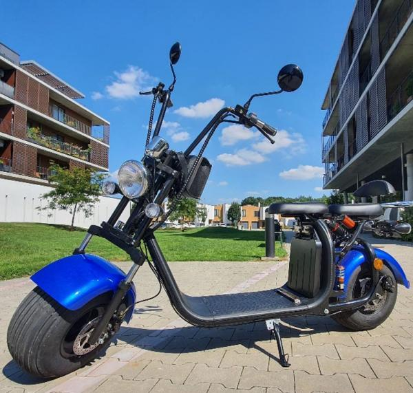 "Elektrický Chopper® Kék 45km/h Model: ""C07A"""