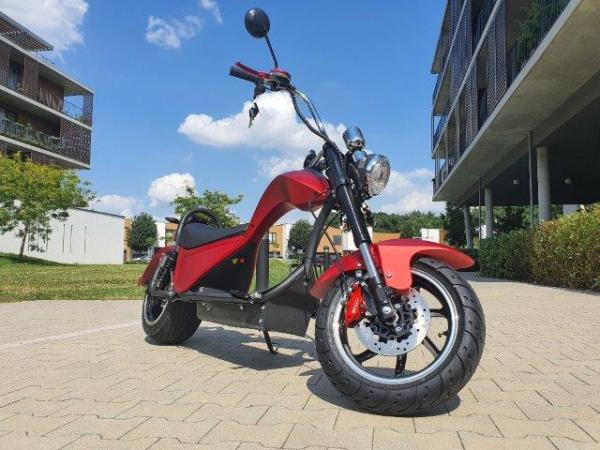 "Elektrický Chopper® COBRA Red 45km/h Model: ""ES8007"""